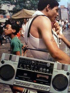 My Papi had a mean ghetto blaster, lol.