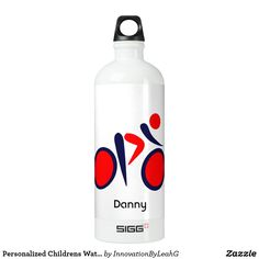 Personalized Childrens Water Bottle CYCLIST Named