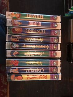 Walt Disney Masterpiece Collection VHS Tapes Lot Of 9