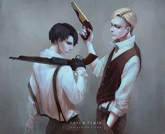 Erwin Smith and Levi Shingeki no Kyojin Attack on Titan