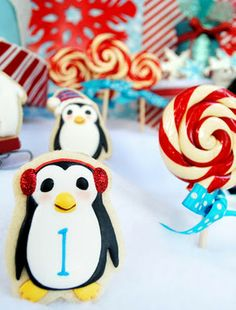 Penguin 1st Birthday Party, ADORABLE! I think I have found the theme for Dominic's 1st bday!