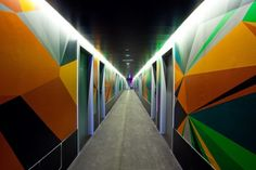 Foto de la planta del hotel Vincci Bit Barcelona, decorado por Alex Trochut