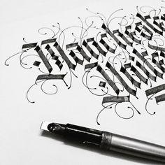 """✍ work hard... #typewa #pilotparallelpen #moderncalligraphy #calligraphymasters #calligraphy #typegang #typespire #calligritype #typoholic #typovn…"""