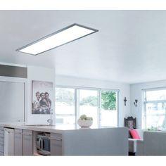 Panneau LED intégrée Gdansk INSPIRE rectangle 120 x 30 cm, 36 W, alu | Leroy Merlin