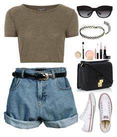 """A look inspired"" by turayoo ❤ liked on Polyvore featuring Topshop, Converse, Ralph Lauren, INDIE HAIR, MANGO and 3.1 Phillip Lim"
