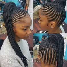 This braided ponytail is so pretty by Brooklyn stylist @amourjah ❤ #voiceofhair voiceofhair