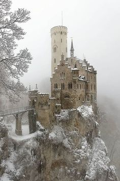 Lichtenstein Castle in Germany. Often depicted as being on an island and called the Dublin Castle in Ireland. In truth it is in Germany, Beautiful Castles, Beautiful Buildings, Beautiful World, Beautiful Places, Beautiful Landscapes, Beautiful Scenery, Abandoned Castles, Abandoned Houses, Abandoned Places