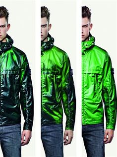 - Smart textiles Heat Reactive Jacket by Stone Island, a tracksuit top which changes colour from black to green/ blue once it has reached 27 degrees. The fabric that is cotton nylon with th(Wearable Technology Textiles) Smart Textiles, E Textiles, Stone Island, Bape, Velo Retro, Streetwear, Smart Materials, Tracksuit Tops, Tracksuit Jacket