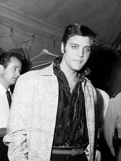 Elvis backstage at Tupelo, 1956 & Gordon Stoker