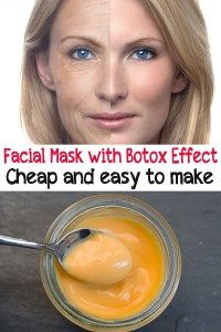 Facial mask with Botox effec t. Cheap and easy to make