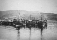 The Turkish Fleet at Port Bannatyne Pier In the Photo originally uploaded by Sarah K. Isle Of Bute, Steam Boats, Scottish Gaelic, Arran, Steamers, 12th Century, United Kingdom, Scotland, Sons
