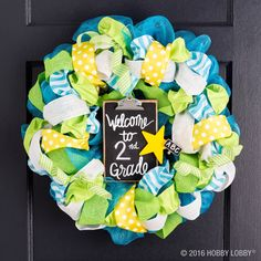 Diy deco mesh wreath