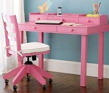 Girly Desks madeline writing desk hutch, simply white | kids room | pinterest