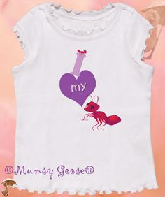Funny Girly T I Love my Aunt by Mumsy Goose Infant Girls tees to Kids shirts. $14.95, via Etsy.