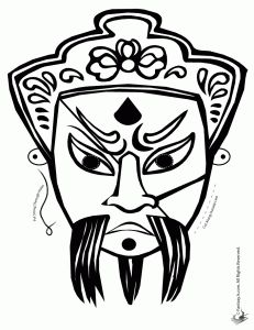 1000 images about chinese masks on pinterest chinese for Kabuki mask template