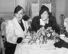 Mary Pickford and Gloria Swanson