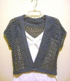 Free Crochet Shrug Patterns   The Handmade Way: The Short Sleeved Crochet Shrug…