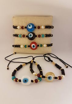 Gift / Evil Eye Adjustable /Friendship Bracelet/ Ojo Turco/Fashion Bracelet/Turkish Eye Bracelet #takkaibykarina #wholesalebracelets #turkishbracelet ##evileyes #evileyesbracelets #cordbracelets #evileyes #ojoturco #handmadebracelets #etsyshop #etsyjewelry #bijoux2018 #worldwideshipping