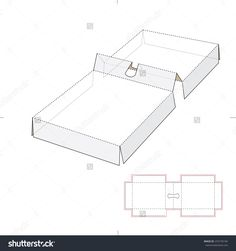 Box Insert With Die-Cut Template Stock Vector Illustration 253193194 : Shutterstock