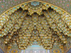 Much of the architecture in Iran's mosque's are reminiscent of a black hole singularity and chaos/creation emanating outward - Album on Imgur