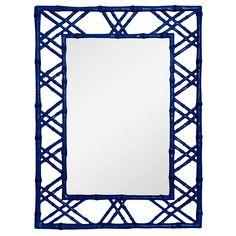 """$674 31""""W x 40""""H  Bungalow 5 Claire Dark Blue Mirror @Zinc_Door"""