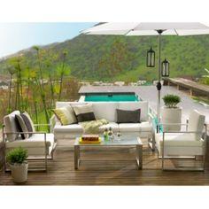 Juego de terraza creta blanco 4 piezas