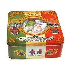 Assortimento del Chiostro: Amaretti Croccanti, Amaretti morbidi e Baci - Malibran Tin - Expo Tin - 175g