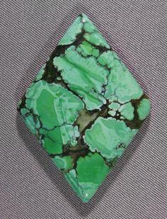 Variscite cab from Utah. Silverhawk's designer gemstones.