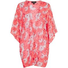 TOPSHOP Sunburst Floral Print Beach Kimono ($20) ❤ liked on Polyvore featuring cardigans, multi, beach kimono, bathing suit swimwear, beach bathing suits, swimming costumes and swimsuit cover ups