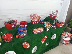 Concession stand for sports birthday party