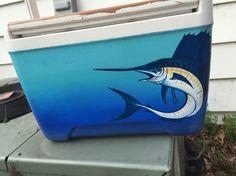 Swordfish painted cooler