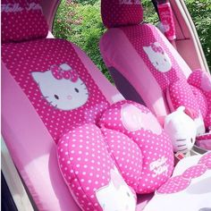 22pc Set Cute Rose Hello Kitty Car Seat Cover and Other Car Accessories Cover | eBay