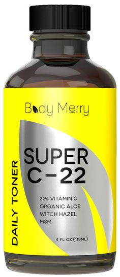 Our Super C-22 family has expanded as Body Merry launches brand new toner! Packed with 22% vitamin C, this toner is an alcohol-free astringent that leaves your skin feeling so fresh and so clean. On sale for $19.99
