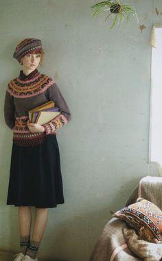 sweater + skirt <3
