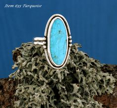 A wonderful Turquoise Ring Sz 7.5 That works well for any occasion