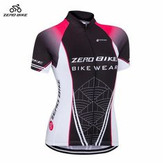 ZEROBIKE Women s Short Sleeve Cycling Jersey Quick Dry Breathable MTB Bike  Clothing Full Zip Tops T-shirt ropa ciclismo US Size 12025328d