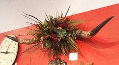 longhorn flower arrangements   Spectacular floral arrangement features 6′ longhorns. Can be wall ...