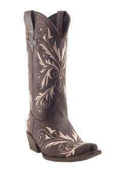 Pecos Bill Fleur de Lis Pull Strap Boot 20-8011307SM