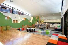 Colorful and Appealing Student Library in Melbourne by dKO Architecture