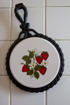 Vintage trivet with strawberry design                                                                                                                                                                                 More