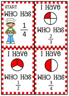 Pizza Fractions I have who has game