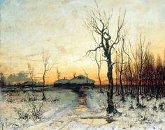 Klever Julius - Winter. 200 Russian painters • download painting • Gallerix.ru