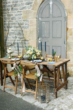 Images by Emma Pilkington Photography - Rustic Ethereal French Chateau Inspiration | Flowers by Swallows and Damsons | Dresses by Kate Beaumont | Emmy London Shoes | Hassop Hall | Emma Pilkington Photography | http://www.rockmywedding.co.uk/rustic-ethereal-french-chateau-inspiration-shoot/