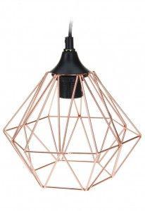 Lampa geometryczna druciana - miedziana nr.2