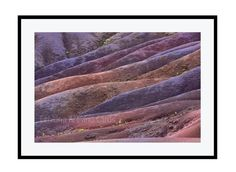 Abstract Landscape Photography Purple Artwork Contemporary