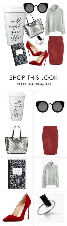 """Untitled #7"" by sara-miah ❤ liked on Polyvore featuring Quay, Calvin Klein, Jitrois, Dot & Bo, Madewell and Manolo Blahnik"