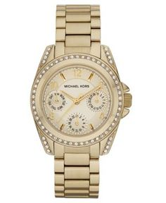 Michael Kors Watch, Women's Blair Gold-Tone Stainless Steel Bracelet 33mm MK5639