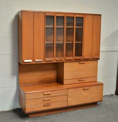 Teak Sideboard Drinks Cabinet Bi-Fold Doors Danish Style Delivery available