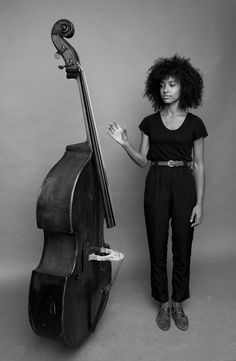 Esperanza Spalding, NYC 2011 by Jimmy Katz. This photo is for sale, size 40x60 cm, signed, edition 1. Only one print made for the North Sea Jazz Festival 2014. Still for sale!!! musicinspiredart@gmail.com