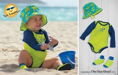 Sun Smarties Infant Boy, UPF 50+ perfect for the family beach trip